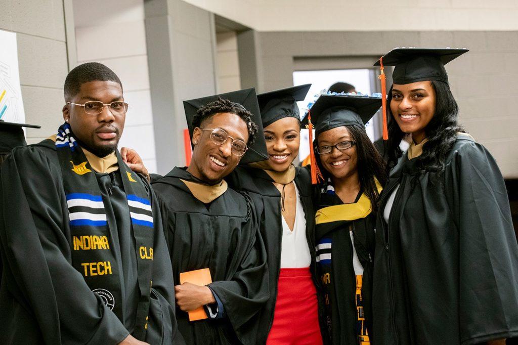Graduates gathering