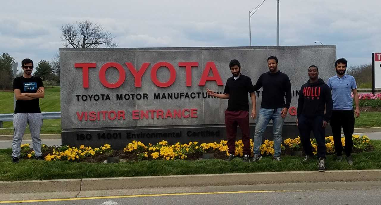 Students at Toyota Motor Manufacturing