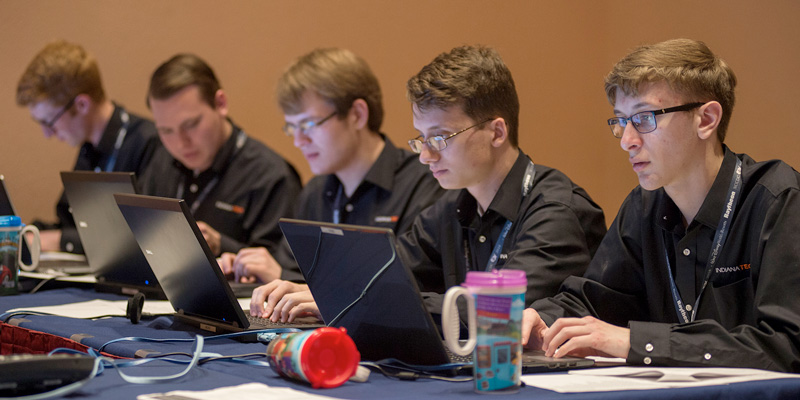 Cyber Defense team at competition