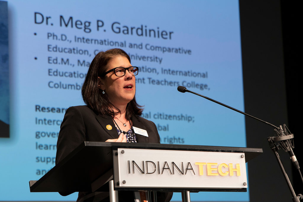 Professor of Ph.D. in Global Leadership, Dr. Meg Gardinier.