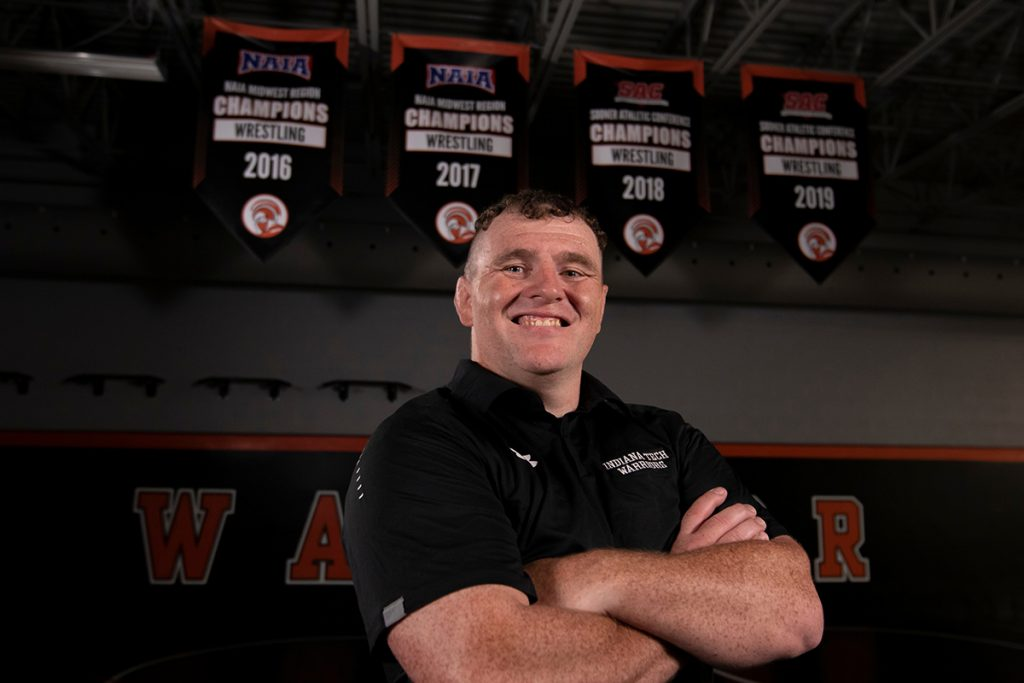 Indiana Tech women's wrestling coach Paul Rademacher.